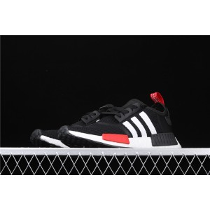 Women Adidas NMD Real Boost R1 ET5667 Black White Shoes