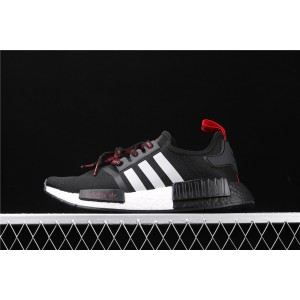 Women Adidas NMD Real Boost R1 FV2548 Black White Shoes