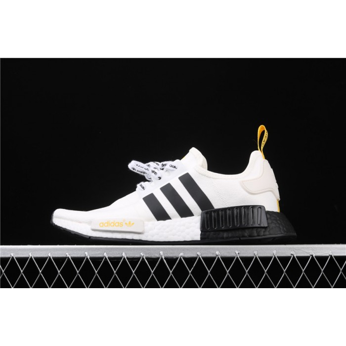 Women Adidas NMD Real Boost R1 FV2549 Cream Black Shoes