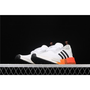 Women Adidas NMD Real Boost R1 FV3648 Cream Orange Shoes