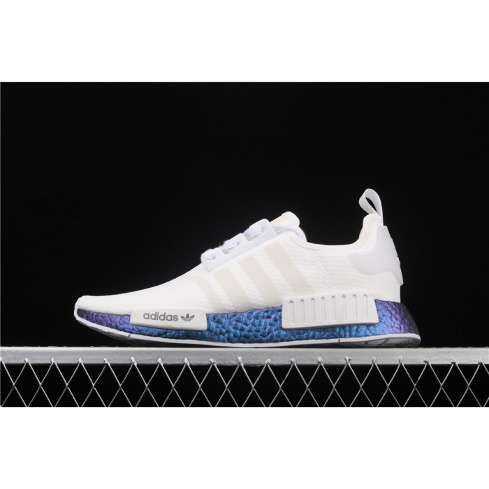 Women Adidas NMD Real Boost R1 FV5344 Cream 3M Logo Shoes