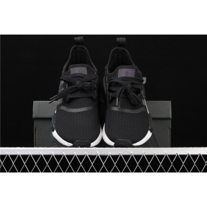 Women Adidas NMD Real Boost R1 FV8152 Black 3M Logo Shoes