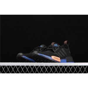 Women Adidas NMD Real Boost R1 FV8524 Black Blue Shoes