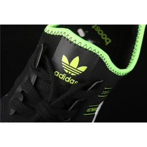 Women Adidas NMD Real Boost R1 FX1032 Black Fluorescent Shoes