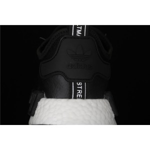 Women Adidas NMD Real Boost R1 Originals Taping EE5082 Black Shoes