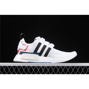 Women Adidas NMD Real Boost R1 Originals Taping EF0753 Cream White Shoes