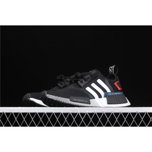 Women Adidas NMD Real Boost R1 Originals Taping EF2310 Black Shoes