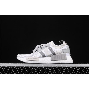 Women Adidas NMD Real Boost R1 PK Boost BY9865 Gray White Shoes