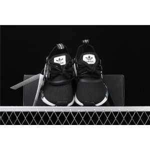 Women Adidas NMD Real Boost Runner PK R1 EH0779 In Black Shoes