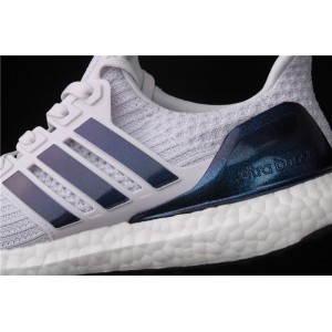 Women Adidas Ultra Boost 4.0 FW5693 White Blue Shoes