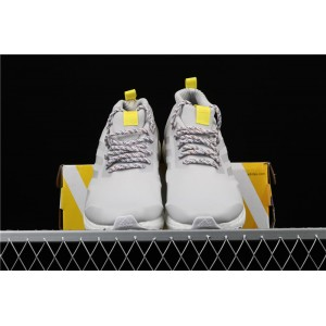Women Adidas Ultra Boost Mid G26842 Gray Yellow Shoes