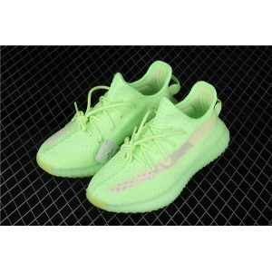 Women Adidas Yeezy Boost 350 V2 In Fluorescent Green Shoes