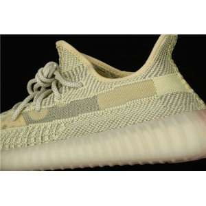 Women Adidas Yeezy Boost 350 V2 In Yellow Gray Shoes