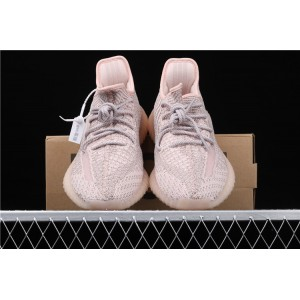 Women Adidas Yeezy Boost 350 V2 Synth In Silver Pink Shoes