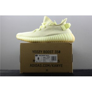 Women Adidas Yeezy Boost 350 V2 Real Basf In Fluorescent Yellow Shoes