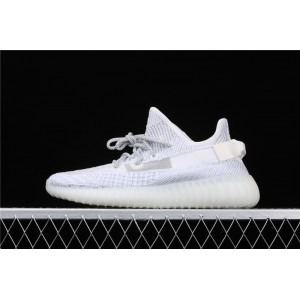 Women Adidas Yeezy Boost 350 V2 Real Basf Static In White Shoes